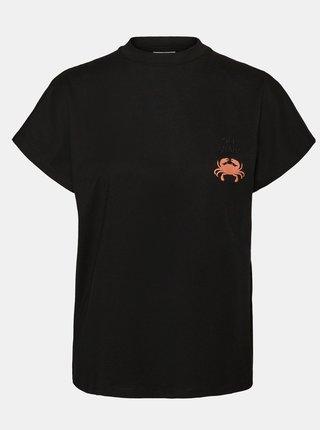 Černé tričko s potiskem Noisy May Hailey