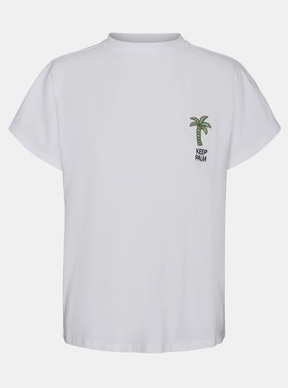 Bílé tričko s potiskem Noisy May Hailey