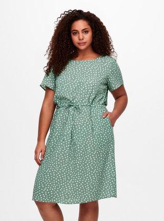 Zelené vzorované šaty ONLY CARMAKOMA