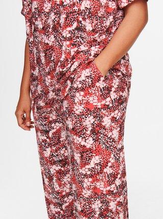 Hnědé vzorované kalhoty ONLY CARMAKOMA