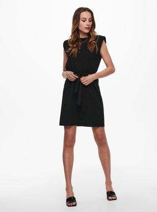 Černé šaty se zavazováním ONLY Jen