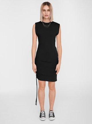 Čierne púzdrové šaty so sťahovaním na boku Noisy May Multo