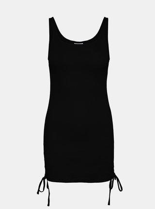 Čierne púzdrové šaty so sťahovaním na bokoch Noisy May Stine