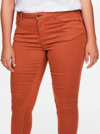 Cihlové skinny kalhoty ONLY CARMAKOMA