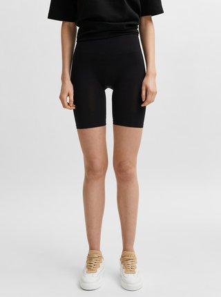 Černé tvarující krátké legíny Selected Femme Sally