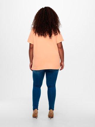 Oranžové tričko ONLY CARMAKOMA
