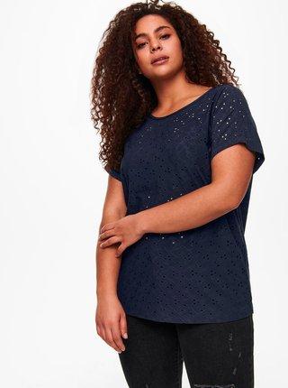 Tmavě modré tričko ONLY CARMAKOMA
