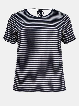 Modro-biele pruhované tričko ONLY CARMAKOMA