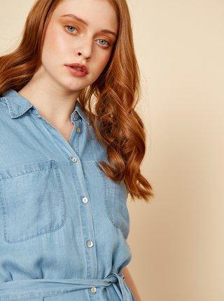 Světle modré košilové šaty se zavazováním ZOOT Isla