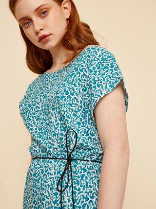 Modré květované šaty se zavazováním ZOOT Aimee