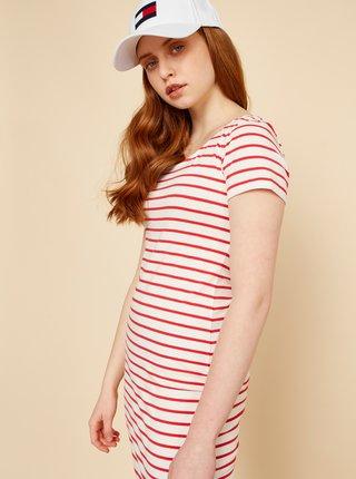 Červeno-bílé pruhované pouzdrové šaty ZOOT Vally