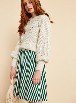 Bílo-zelené pruhované šaty ZOOT Nila