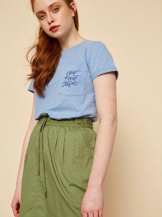 Světle modré dámské tričko s potiskem ZOOT Baseline Braulia