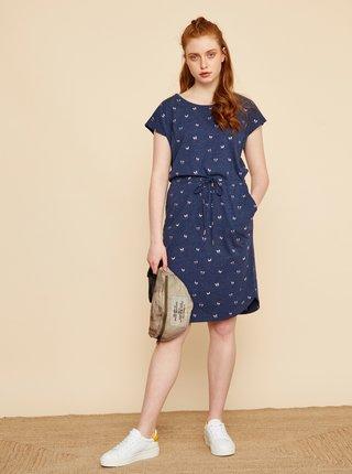 Tmavě modré vzorované šaty se zavazováním ZOOT Baseline René