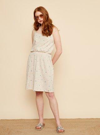 Béžové vzorované šaty ZOOT Baseline Rosemary