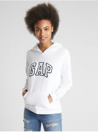 Bílá dámská mikina GAP Logo pullover hoodie
