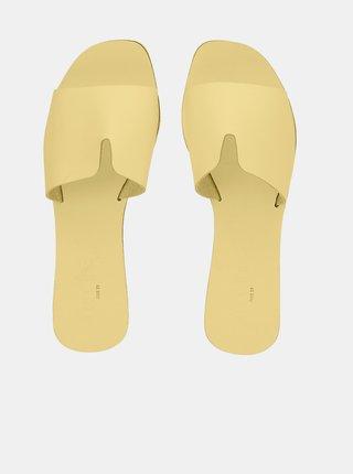 Papuče, žabky pre ženy Pieces - žltá