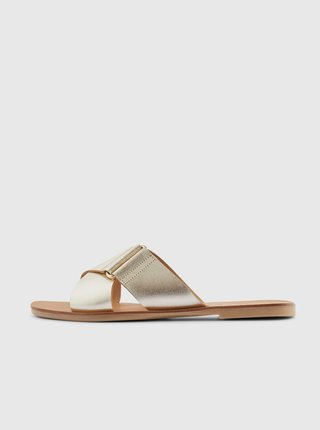 Papuče, žabky pre ženy Pieces - zlatá