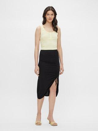 Černá pouzdrová sukně se stahováním na boku Pieces Neora