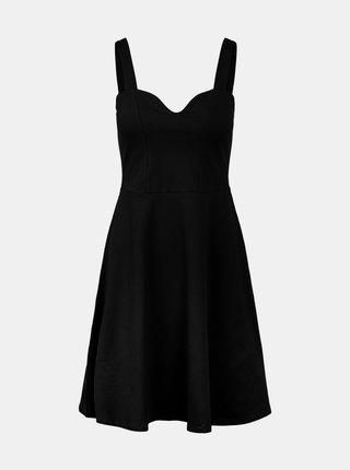 Černé šaty na ramínka Pieces Ang
