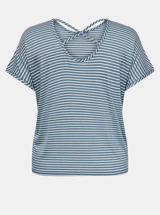 Modro-bílé pruhované tričko ONLY CARMAKOMA