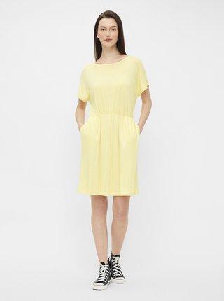 Žluté šaty Pieces Petrine