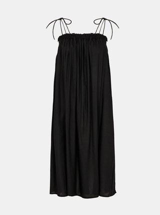 Letné a plážové šaty pre ženy Pieces - čierna