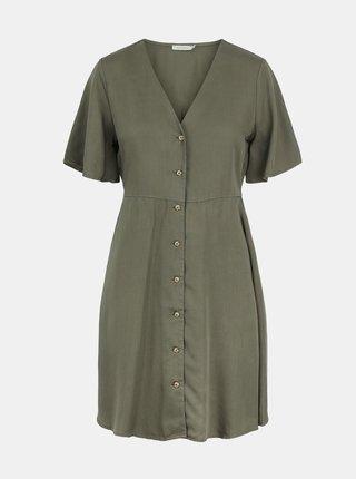 Letné a plážové šaty pre ženy Pieces - kaki