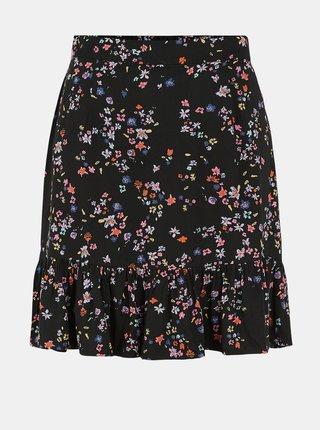 Černá květovaná sukně Pieces Lala