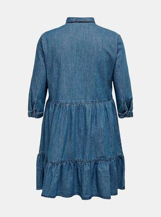 Modré džínové košilové šaty ONLY CARMAKOMA
