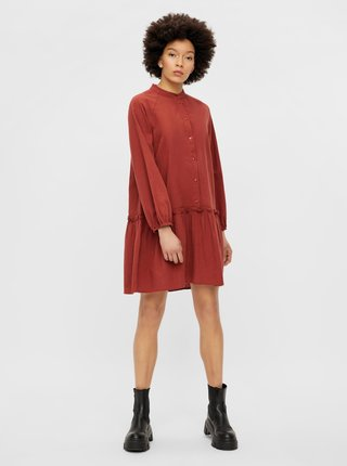 Šaty na denné nosenie pre ženy Pieces - tehlová