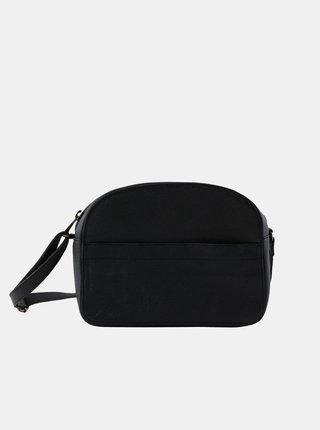Čierna kožená crossbody kabelka Pieces Lova