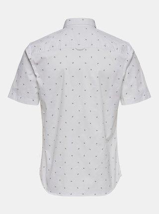Bílá košile s krátkým rukávem ONLY & SONS