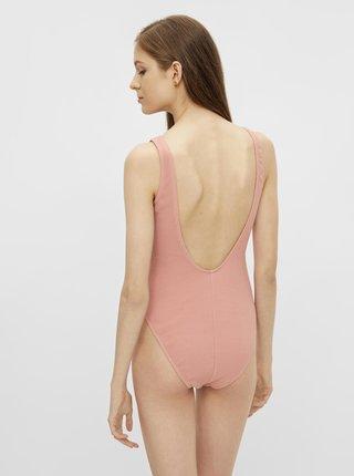 Růžové jednodílné plavky Pieces Giorgia