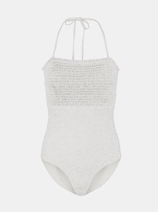 Bílé vzorované jednodílné plavky Pieces Gaya