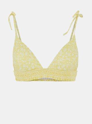 Žlutý květovaný horní díl plavek Pieces Gaya