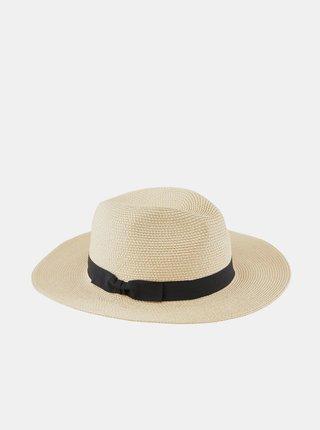 Krémový slaměný klobouk Pieces Nynni