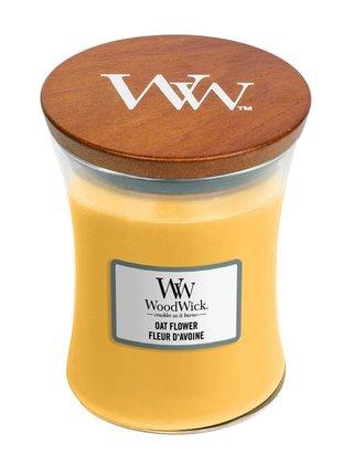 WoodWick vonná svíčka Oat Flower střední váza