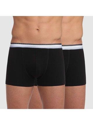 DIM ABSOLU FIT BOXER 2x - Pánské boxerky 2 ks - černá