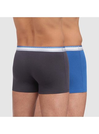 DIM ABSOLU FIT BOXER 2x - Pánské boxerky 2 ks - šedá - modrá