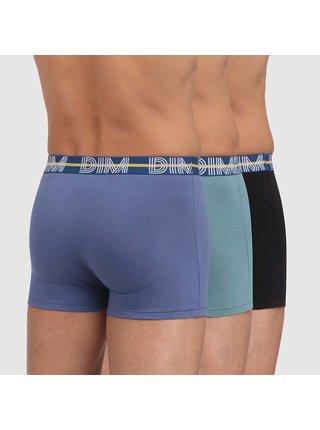 DIM POWERFUL BOXERS 3x - Pánské boxerky 3 ks - světle modrá - šedá - černá