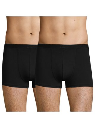 DIM SOFT POWER BOXER 2x - Pánské bavlněné boxerky 2 ks - černá