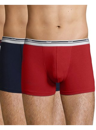 DIM DAILY COLORS BOXER 2x - Pánské boxerky 2 ks - červená - modrá