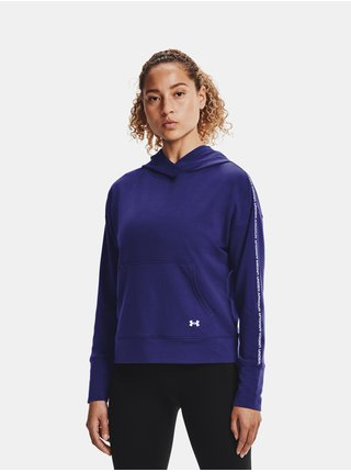 Mikina Under Armour UA Rival Terry Taped Hoodie - modrá