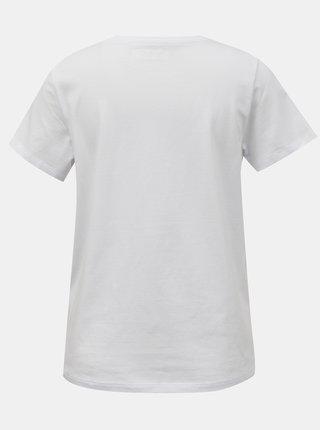 Bílé tričko s výšivkou Noisy May Nate