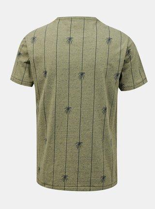 Khaki pruhované tričko Blend