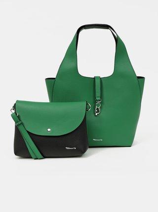 Zelený oboustranný shopper s odnímatelným pouzdrem Tamaris