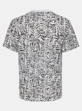 Bílé vzorované tričko ONLY & SONS
