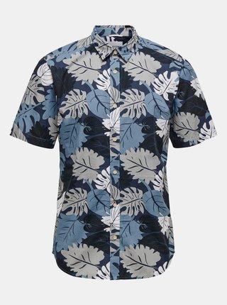 Modrá vzorovaná košile s krátkým rukávem ONLY & SONS-Stone