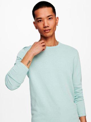 Mentolový sveter ONLY & SONS